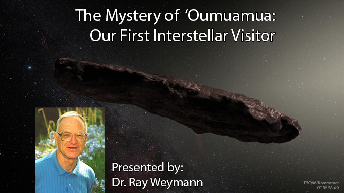Our first visitor from outside the solar system… that we noticed!